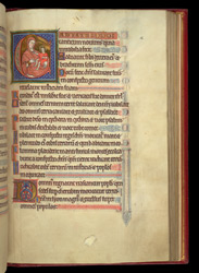 Historiated Initial With The Virgin And Child, In A Psalter Preceded By Miniatures And A Calendar